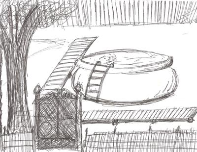 Pool area design sketch