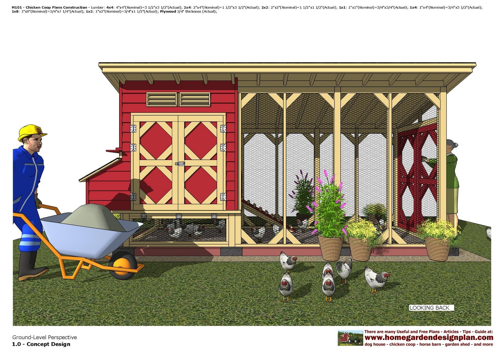 M101 - Chicken Coop Plans Construction - Chicken Coop Design - How To Build A Chicken Coop_10